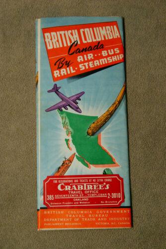 British Columbia Canada by Air - Bus - Rail - Steamship
