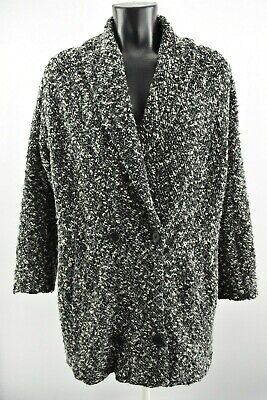 Ivan Grundahl Women`s Coat Padded Collared Woolen Long Jacket Size S