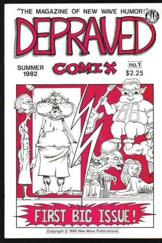 DEPRAVED COMIX # 1 UNDERGROUND COMIC 1982 MAGAZINE OF NEW WAVE HUMOR DONOHUE