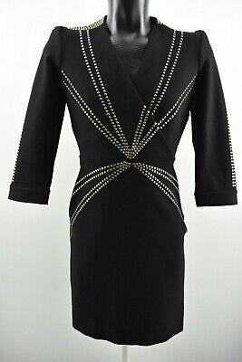 Hoss Intropia Women`s Dress Long Sleeve Black Top V Neck Viscose Tunic size 40