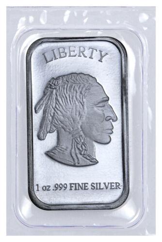 1 oz .999 Fine Silver Buffalo Liberty Bar (Sealed in Plastic) SKU40117
