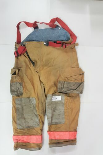 46x28 Globe Brown Firefighter Turnout Bunker Pants w/ Suspenders High Back P0162