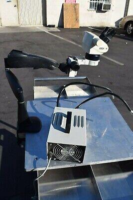 Leica Gz4 Binocular Stereo Zoom Microscope Articulating Arm Boom Stand