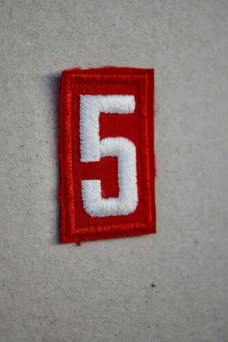 BSA #5 Red White Uniform Troop Number Cub Boy Scouts of America Shirt