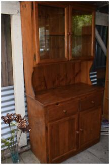 Timber Buffet Display Cabinet - With 2 Glass Doors - Used