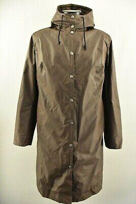 Ilse Jacobsen Hornbeak Women`s Raincoat Waterproof Hooded Long Jacket Size L