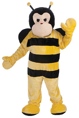 Bumble Bee Plush Mascot Adult Costume Yellow Black Theme Funny Jumpsuit Party