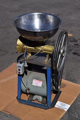 Brass Auger 4 Hp Buffalo Bbq Chopper Meat Grinder Cutter Food Processor Stand