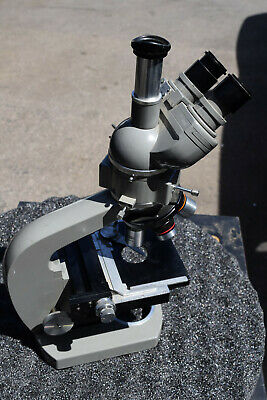 Olympus Trinocular Binocular Lab Microscope 4 Objectives Camera Mount - Light