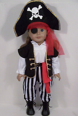 Pirate Halloween Costume Doll Clothes For 18