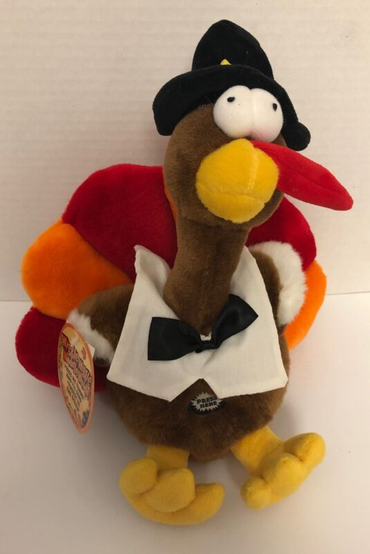 Dandee TURKEY IN THE STRAW Singing Shaking Vibrating Plush MWT Pilgrim Hat