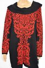 Cotton Blend Red Plus Size Sweaters for Women