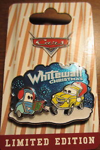 Disney-Happy-Holidays-Pin-2013-Whitewall-Christmas-Cars-Luigi-Guido-LE2000