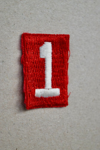 BSA #1 Red & White Uniform Troop Number Patch Cub Boy Scouts of America Uniform