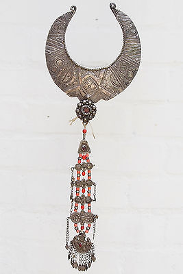 antik nomaden necklace Silber Halsreif Kette pakistan Swat Valley Nuristan Nr:4