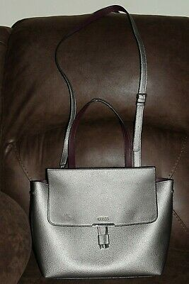 GUESS Messenger Crossbody Bag Silver