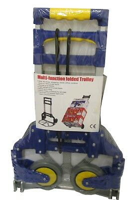 2 x ALUMINIUM FOLDING HAND SACK TRUCK LUGGAGE TROLLEY  only weighs 3kgs
