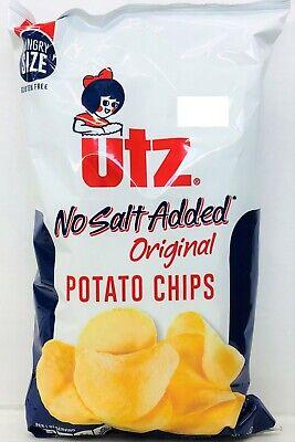 UTZ Original Potato Chips No Salt Added 7.5 oz  No Salt Potato Chips