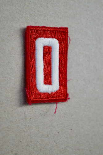 BSA #0 Red White Uniform Troop Number Patch Cub Boy Scouts of America
