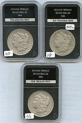 1904-POS Morgan Silver Dollars (#4592) All Fine or Better and