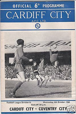 CARDIFF CITY V COVENTRY CITY   2ND DIVISION  6/10/65