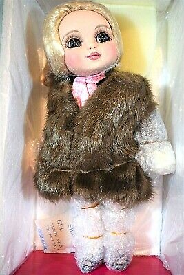 "Marie Osmond  ADORA BASSO BELLE Doll With Fur  porcelain 12"" NRFB   (520) C6282"