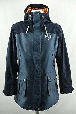 KARI TRAA Womens Jacket Blue Hooded Outdoor Windproof Protected Coat Size M