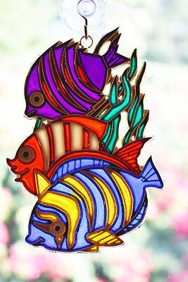 Colorful Tropical Fish Suncatcher Colorful 5