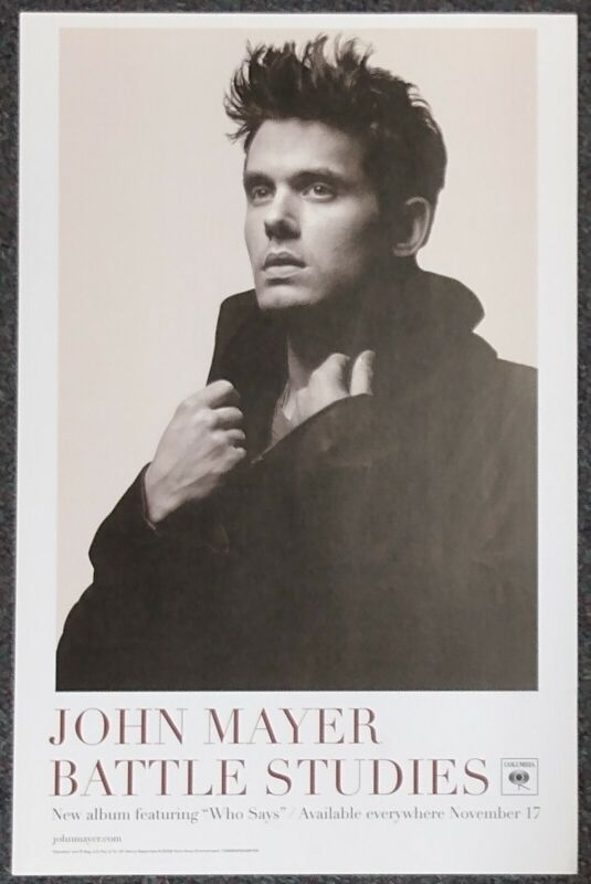 John Mayer Battle Studies 2009 PROMO POSTER