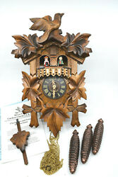 River City Clocks MD411-14 One Day Musical Cuckoo Clock with Dancers – OPEN BOX