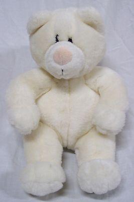 "Baby Gund 1992 CUTE SOFT WHITE TEDDY BEAR 8"" Plush STUFFED ANIMAL"