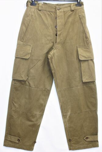 Genuine Vintage Indochina French Army M47 HBT Cargo Pants /Trousers W29 L43
