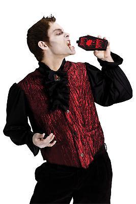 Drinking Dracula Adult Men's Gothic Costume Vampire Shirt Halloween Funworld