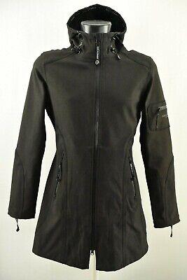 Ilse Jacobsen Women`s Raincoat Water Repellent Breathable Hooded Jacket Size 34