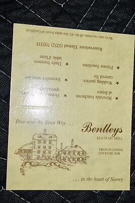Bentleys Elstead Mill Vintage Table Card Advertisement United Kingdom Unfolded