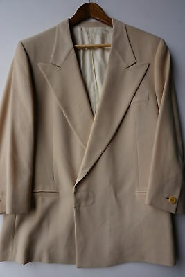 Versace V2 Blazer (44R) Rough Woven Wool Peak Lapel Hidden Button
