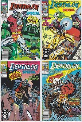 DEATHLOK SPECIAL #1-4 (1991 MARVEL, JACKSON GUICE) COMPLETE SET LOT OF 4