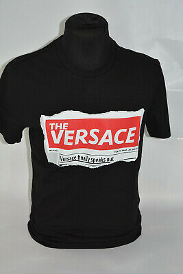 BNWT VERSACE  UNISEX T-SHIRT MADE IN ITALY , BLACK  ,SIZE S,XL,XXL