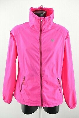 Kari Traa Women`s Jacket Lightweight Zip Neck Pink Coat Long Sleeve size XL