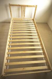 Single bed frame with slatts, like new Meadowbank Ryde Area Preview