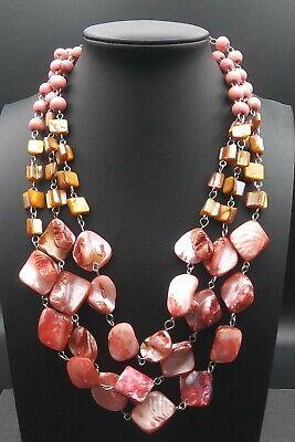 60s -70s Jewelry – Necklaces, Earrings, Rings, Bracelets Vintage Pink & Orange Necklace 1950's 1960's $29.99 AT vintagedancer.com