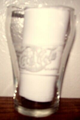 """Vintage, Clear Glass, Coca-Cola, 4"""", fountain style, drinking glass"""