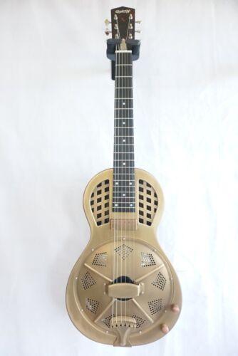 Quincy Electro Acoustic Guitar Resonator Dobro Muddy Winter Bronze Brass vintage