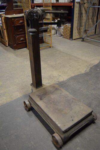 Vintage Antique Fairbanks Morse Portable Floor Scale Cast Iron