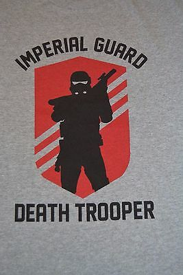 Mens Star Wars Imperial Guard Death Trooper Shirt NWT L, 2XL, 3XL