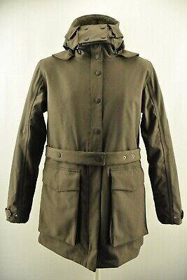 Ilse Jacobsen Hornbeak Women`s Raincoat Waterproof Belted Hooded Brown Size 40