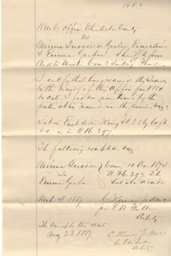 SC Confederate Charles Kerrison, Wounded At Gettysburg, POW, Signs Document