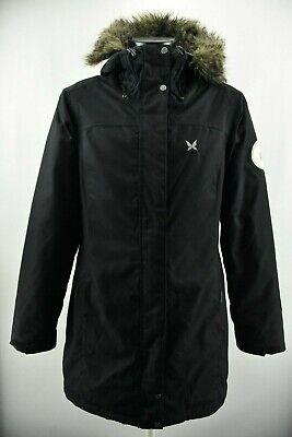 Kari Traa Women`s Insulated Jacket Black Parka Lined Padded Hooded Coat size L