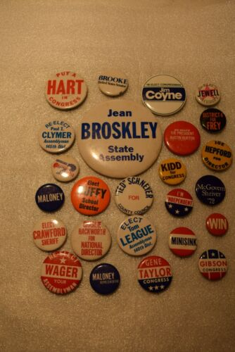 Lot of Misc. Political, Union, etc. pin/buttons