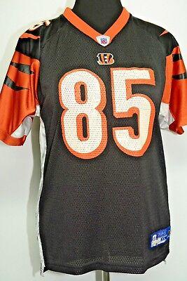 NFL Cincinnati Bengals #85 Reebok Womens M/L Jersey Vintage C. Johnson Uniform